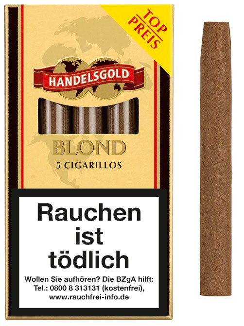 Handelsgold Cigarillos Blond (ehemals Sweets Vanilla)