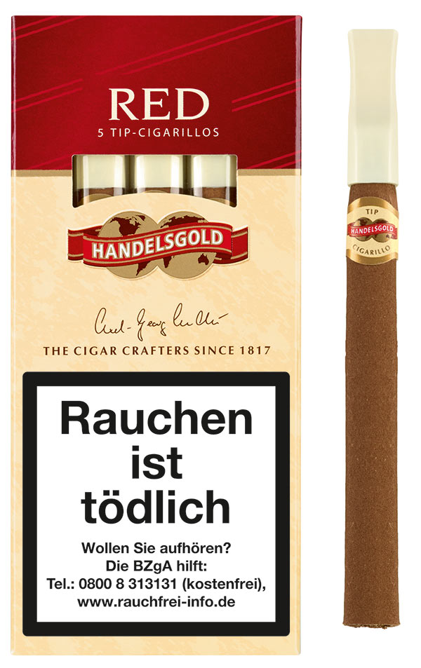 Handelsgold Cigarillos Red Tip 212 (ehemals Cherry)