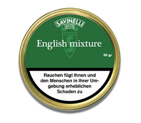 Savinelli Pfeifentabak English Mixture