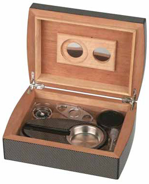 Humidor - Set Carbone finish