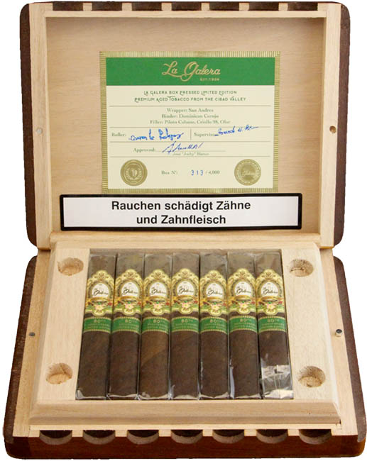 La Galera 1936 80th Anniversary Box Pressed Limited Edition Sampler