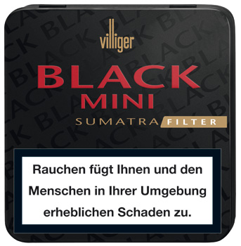 Villiger Mini Filter - Black Sumatra Blechdose