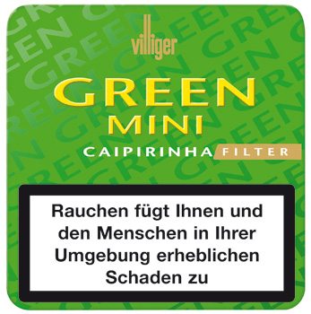 Villiger Mini Filter - Green Caipirinha Blechdose