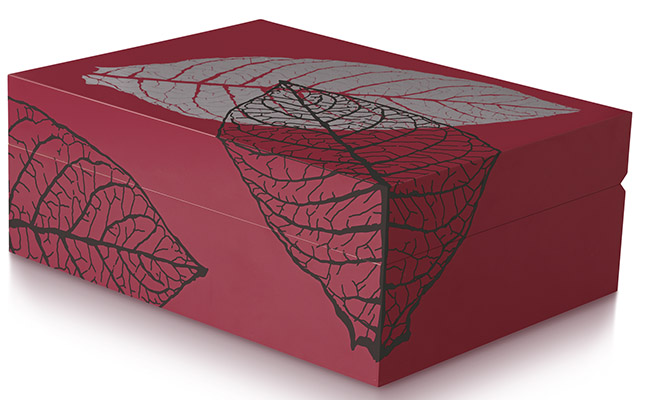 Zino Humidor Graphic Leaf red